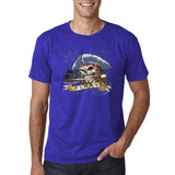 "I am Just a Pirate of Carribean Men T Shirt-T Shirts-Gildan-Cobalt-S To Fit Chest 36-38"" (91-96cm)-Daataadirect"