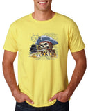 "I am Just a Pirate of Carribean Men T Shirt-T Shirts-Gildan-corn silk-S To Fit Chest 36-38"" (91-96cm)-Daataadirect"
