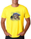"I am Just a Pirate of Carribean Men T Shirt-T Shirts-Gildan-Daisy-S To Fit Chest 36-38"" (91-96cm)-Daataadirect"