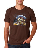 "I am Just a Pirate of Carribean Men T Shirt-T Shirts-Gildan-Dark chocolate-S To Fit Chest 36-38"" (91-96cm)-Daataadirect"