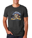 "I am Just a Pirate of Carribean Men T Shirt-T Shirts-Gildan-Dark heather-S To Fit Chest 36-38"" (91-96cm)-Daataadirect"