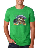 "I am Just a Pirate of Carribean Men T Shirt-T Shirts-Gildan-|Heather irish green-S To Fit Chest 36-38"" (91-96cm)-Daataadirect"
