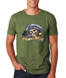 "I am Just a Pirate of Carribean Men T Shirt-T Shirts-Gildan-Heather Militry Green-S To Fit Chest 36-38"" (91-96cm)-Daataadirect"