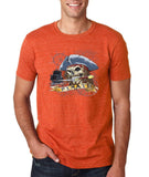 "I am Just a Pirate of Carribean Men T Shirt-T Shirts-Gildan-Heather Orange-S To Fit Chest 36-38"" (91-96cm)-Daataadirect"