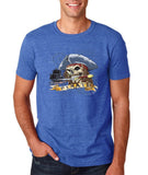 "I am Just a Pirate of Carribean Men T Shirt-T Shirts-Gildan-Heather royal-S To Fit Chest 36-38"" (91-96cm)-Daataadirect"