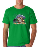 "I am Just a Pirate of Carribean Men T Shirt-T Shirts-Gildan-Irish green-S To Fit Chest 36-38"" (91-96cm)-Daataadirect"