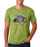 "I am Just a Pirate of Carribean Men T Shirt-T Shirts-Gildan-kiwi-S To Fit Chest 36-38"" (91-96cm)-Daataadirect"