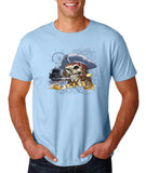 "I am Just a Pirate of Carribean Men T Shirt-T Shirts-Gildan-light blue-S To Fit Chest 36-38"" (91-96cm)-Daataadirect"