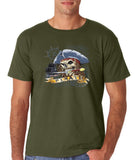 "I am Just a Pirate of Carribean Men T Shirt-T Shirts-Gildan-Military green-S To Fit Chest 36-38"" (91-96cm)-Daataadirect"