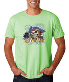 "I am Just a Pirate of Carribean Men T Shirt-T Shirts-Gildan-Mint Green-S To Fit Chest 36-38"" (91-96cm)-Daataadirect"