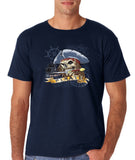 "I am Just a Pirate of Carribean Men T Shirt-T Shirts-Gildan-navy-S To Fit Chest 36-38"" (91-96cm)-Daataadirect"