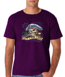 "I am Just a Pirate of Carribean Men T Shirt-T Shirts-Gildan-purple-S To Fit Chest 36-38"" (91-96cm)-Daataadirect"