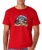 "I am Just a Pirate of Carribean Men T Shirt-T Shirts-Gildan-red-S To Fit Chest 36-38"" (91-96cm)-Daataadirect"