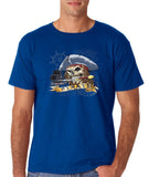 "I am Just a Pirate of Carribean Men T Shirt-T Shirts-Gildan-royal-S To Fit Chest 36-38"" (91-96cm)-Daataadirect"
