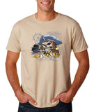 "I am Just a Pirate of Carribean Men T Shirt-T Shirts-Gildan-sand-S To Fit Chest 36-38"" (91-96cm)-Daataadirect"