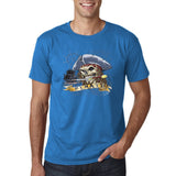 "I am Just a Pirate of Carribean Men T Shirt-T Shirts-Gildan-Sapphire-S To Fit Chest 36-38"" (91-96cm)-Daataadirect"