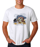 "I am Just a Pirate of Carribean Men T Shirt-T Shirts-Gildan-white-S To Fit Chest 36-38"" (91-96cm)-Daataadirect"