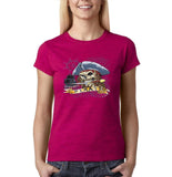 "I am Just a Pirate of Carribean Women T Shirt-T Shirts-Gildan-Antique Heliconia-S UK 10 Euro 34 Bust 32""-Daataadirect"