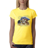 "I am Just a Pirate of Carribean Women T Shirt-T Shirts-Gildan-Daisy-S UK 10 Euro 34 Bust 32""-Daataadirect"