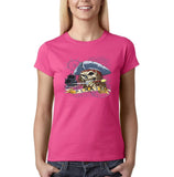 "I am Just a Pirate of Carribean Women T Shirt-T Shirts-Gildan-Heliconia-S UK 10 Euro 34 Bust 32""-Daataadirect"