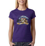 "I am Just a Pirate of Carribean Women T Shirt-T Shirts-Gildan-Purple-S UK 10 Euro 34 Bust 32""-Daataadirect"