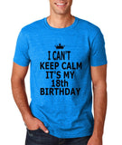"I can't keep calm it's my 18th birthday Men T Shirt Black-T Shirts-Gildan-Antique Sapphire-S To Fit Chest 36-38"" (91-96cm)-Daataadirect"
