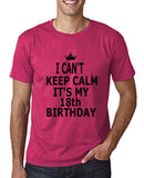 "I can't keep calm it's my 18th birthday Men T Shirt Black-T Shirts-Gildan-Heliconia-S To Fit Chest 36-38"" (91-96cm)-Daataadirect"