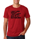 "I don't need therapy I just need to go kayaking Mens T Shirts Black-T Shirts-Gildan-Cardinal-S To Fit Chest 36-38"" (91-96cm)-Daataadirect"
