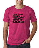 "I don't need therapy I just need to go kayaking Mens T Shirts Black-T Shirts-Gildan-Heliconia-S To Fit Chest 36-38"" (91-96cm)-Daataadirect"