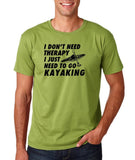 "I don't need therapy I just need to go kayaking Mens T Shirts Black-T Shirts-Gildan-Kiwi-S To Fit Chest 36-38"" (91-96cm)-Daataadirect"