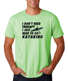 "I don't need therapy I just need to go kayaking Mens T Shirts Black-T Shirts-Gildan-Mint Green-S To Fit Chest 36-38"" (91-96cm)-Daataadirect"