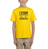 I fish because punching people is frowned upon Black Kids T Shirt-T Shirts-Gildan-Daisy-YXS (3-5 Year)-Daataadirect