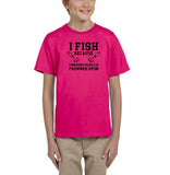 I fish because punching people is frowned upon Black Kids T Shirt-T Shirts-Gildan-Helconia-YXS (3-5 Year)-Daataadirect