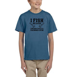 I fish because punching people is frowned upon Black Kids T Shirt-T Shirts-Gildan-Indigo Blue-YXS (3-5 Year)-Daataadirect