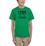 I fish because punching people is frowned upon Black Kids T Shirt-T Shirts-Gildan-Irish Green-YXS (3-5 Year)-Daataadirect