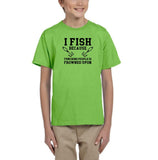 I fish because punching people is frowned upon Black Kids T Shirt-T Shirts-Gildan-Kiwi-YXS (3-5 Year)-Daataadirect