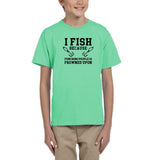 I fish because punching people is frowned upon Black Kids T Shirt-T Shirts-Gildan-Mint Green-YXS (3-5 Year)-Daataadirect