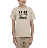 I fish because punching people is frowned upon Black Kids T Shirt-T Shirts-Gildan-Sand-YXS (3-5 Year)-Daataadirect