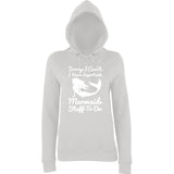 "I HAVE IMPORTANT MERMAID STUFF TO DO Women Hoodies White-Hoodies-AWD-Ash-XS UK 8 Euro 32 Bust 30""-Daataadirect"