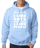 "I Like Cats More Than I Like People Men Hoodies White-Hoodies-Gildan-Light Blue-S To Fit Chest 36-38"" (91-96cm)-Daataadirect"