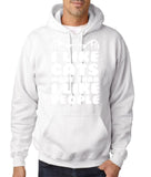 "I Like Cats More Than I Like People Men Hoodies White-Hoodies-Gildan-White-S To Fit Chest 36-38"" (91-96cm)-Daataadirect"
