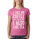 I like my coffee how I like men , I also like tea Women T shirt White-Gildan-Daataadirect.co.uk