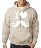 I Love Mustache Mens Hoodies White-Gildan-Daataadirect.co.uk