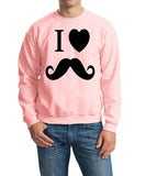 I Love Mustache Mens SweatShirt Black-Gildan-Daataadirect.co.uk