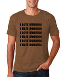 "I love running I hate running Black mens T Shirt-T Shirts-Gildan-Chestnut-S To Fit Chest 36-38"" (91-96cm)-Daataadirect"