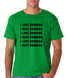 "I love running I hate running Black mens T Shirt-T Shirts-Gildan-Irish Green-S To Fit Chest 36-38"" (91-96cm)-Daataadirect"