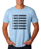 "I love running I hate running Black mens T Shirt-T Shirts-Gildan-Light Blue-S To Fit Chest 36-38"" (91-96cm)-Daataadirect"