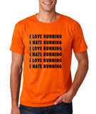 "I love running I hate running Black mens T Shirt-T Shirts-Gildan-Orange-S To Fit Chest 36-38"" (91-96cm)-Daataadirect"