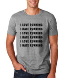 "I love running I hate running Black mens T Shirt-T Shirts-Gildan-Sport Grey-S To Fit Chest 36-38"" (91-96cm)-Daataadirect"