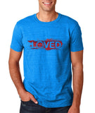 "I Loved Red Men T Shirts Red-T Shirts-Gildan-Antique Sapphire-S To Fit Chest 36-38"" (91-96cm)-Daataadirect"